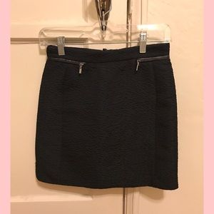 Polyester mini skirt with zippers